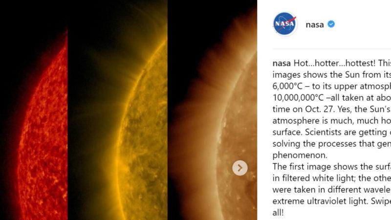 Screenshot: Instagramaccount der NASA, Foto: NASA, CC0