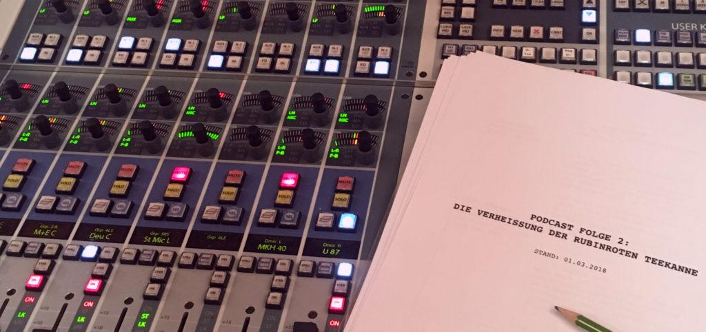 Für die Aufnahmen nutzte das Podcast-Team Randzeiten in Berliner Studios, für die es über Kontakte gute Konditionen bekam. Foto: Kristiane Hasselmann