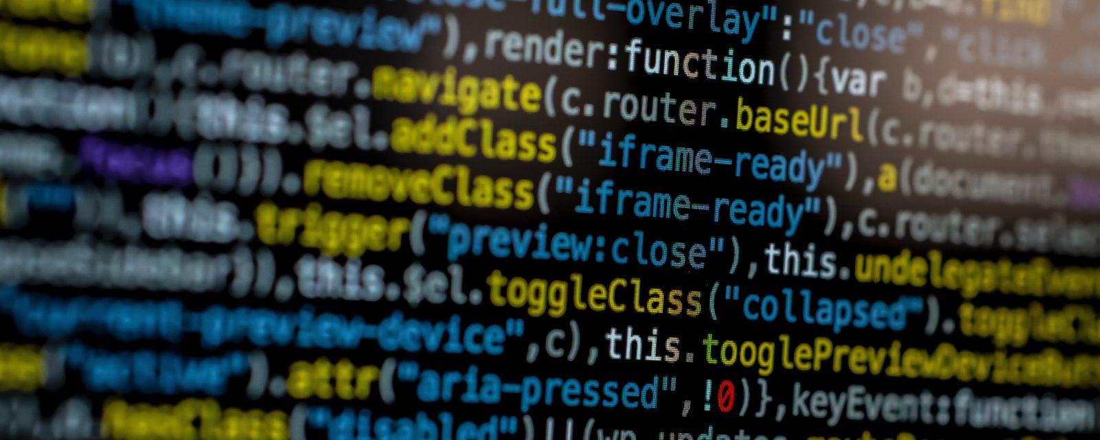 Code auf einem Monitor