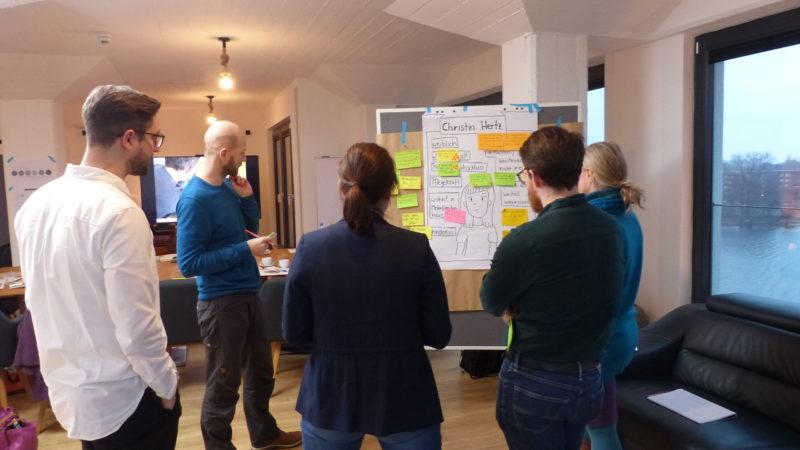 """Das Team von """"Wissenschaft für alle beim Workshop zur Formatentwicklung in Spandau. Foto: Anna Seip, Wissenschaft im Dialog"""