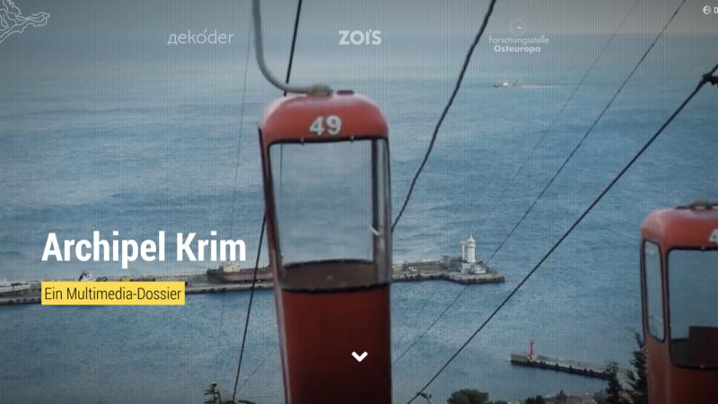 """Das neueste Großprojekt ist das Multimedia-Dossier """"Archipel Krim"""". Foto: decoder"""