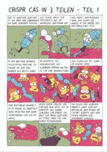 """Wissenschaftscomic """"Die CRISPR-Story – Teil 1/3"""""""