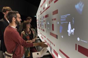 Interaktive Ausstellungsstation im Futurium