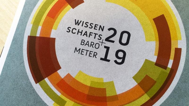 Broschüre des Wissenschaftsbarometers 2019