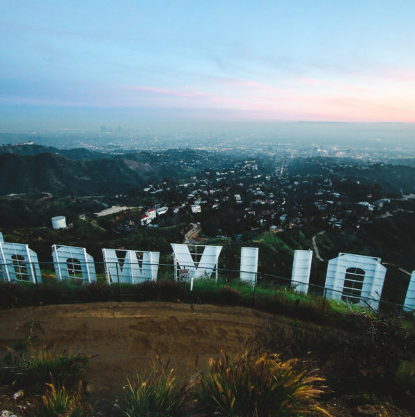 Hollywood Sign backside
